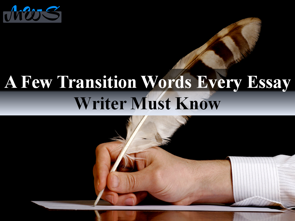 A few transition words every essay writer must know
