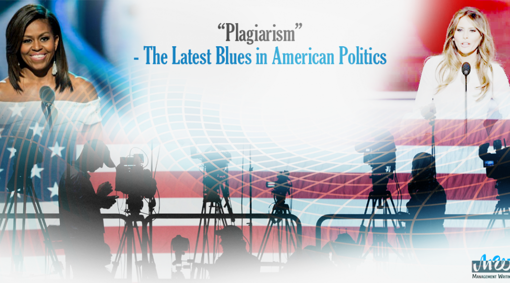"""Plagiarism"" - The Latest Blues in American Politics"