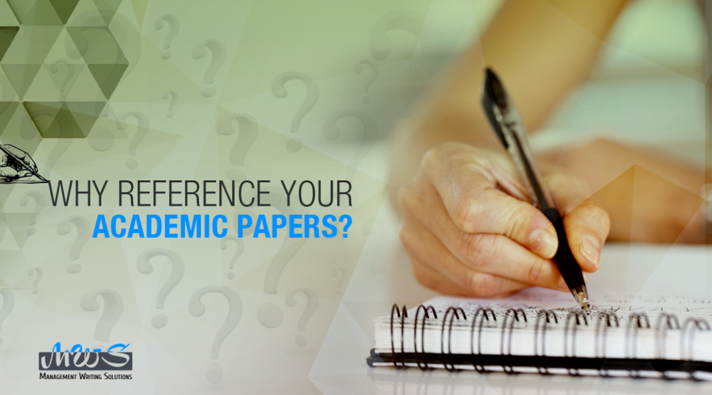 Why Reference Your Academic Papers?